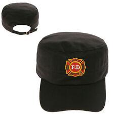 FIRE DEPARTMENT FD LOGO MILITARY CADET ARMY CAP HAT HUNTER CASTRO
