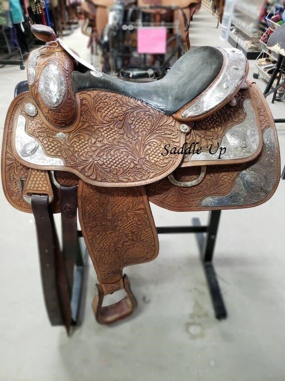 15  USED TEX TAN WESTERN SHOW SADDLE 3-1500