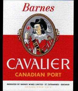 ETIQUETTE-ANCIENNE-de-VIN-034-CAVALIER-034-BARNES-de-ST-CATHARINES-ONTARIO-CANADA
