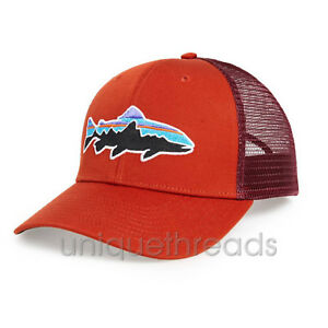 7b0e9cf94ef39 Patagonia Mens - Fitz Roy Trout Trucker Hat Cap - Roots Red ...