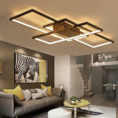 Modern Acrylic Dimmable Led Ceiling Light Square Living Room Lighting Chandelier Ebay