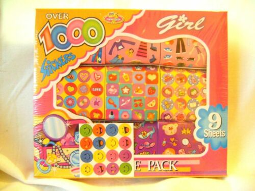 9 ROLLS ASSORTED GIRLS STICKERS ART CRAFT FUN UBL SALE NEW BOX 1000 STICKERS!