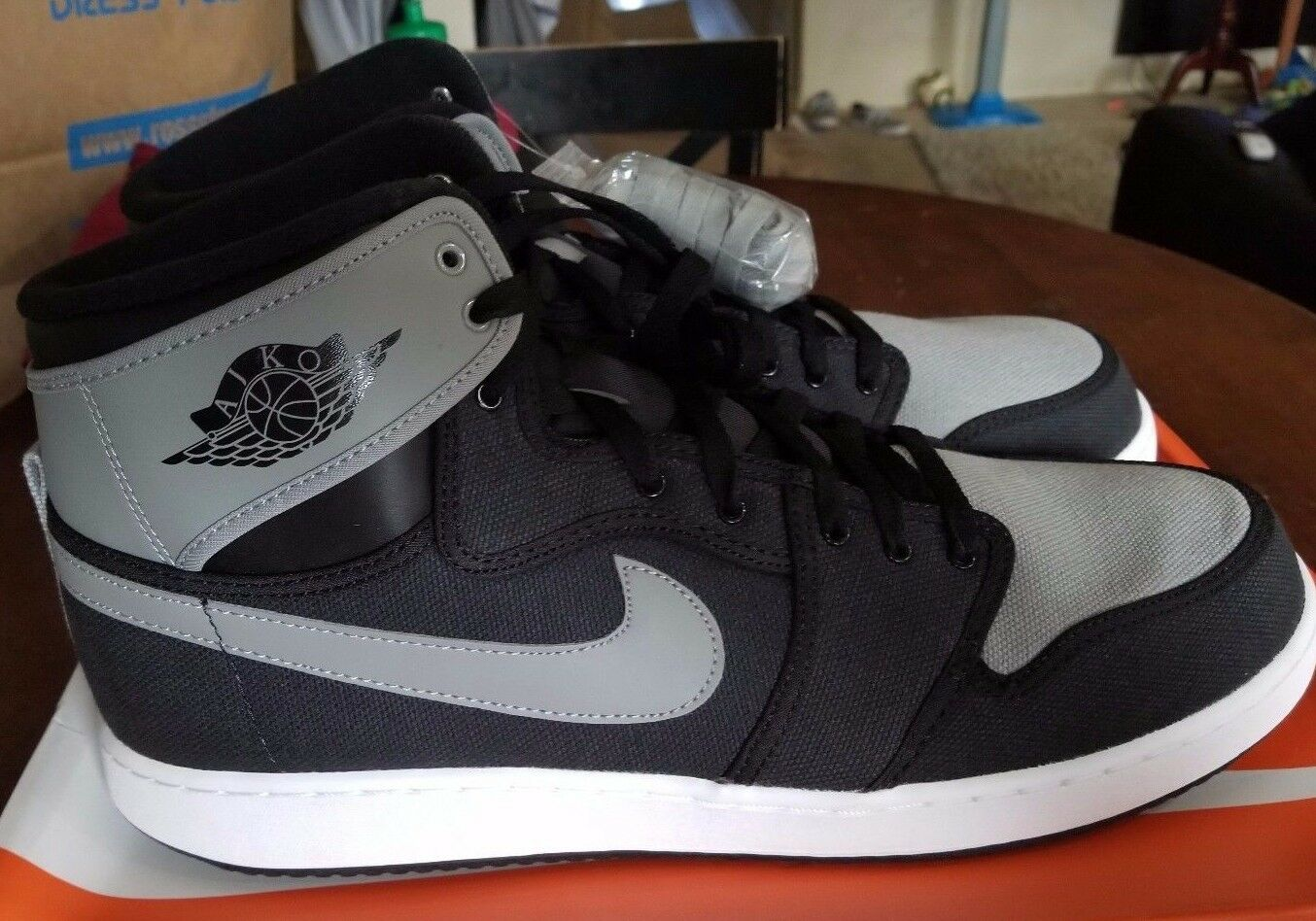 Nike Air Jordan 1 Aj1 Ko Alto / Og Dimensioni 15... 638471 003 Nero / Alto Ombra Grigia 096ede