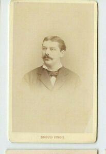 Vintage-CDV-Handsome-Second-Empire-Man-Mustache-Leopold-Dubois-Photo-Poitiers