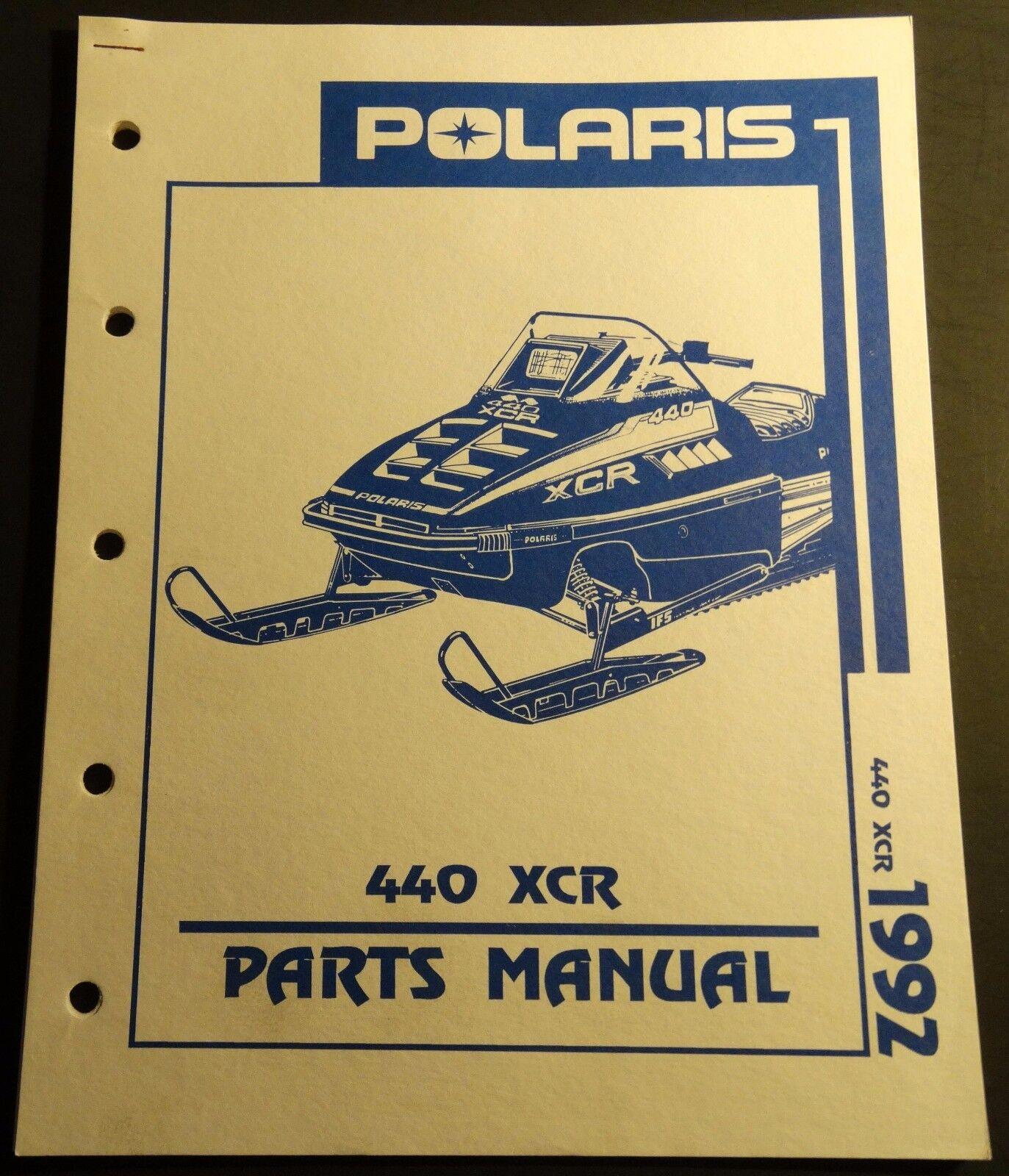 1992 POLARIS SNOWMOBILE 440 XCR PARTS  MANUAL NEW P N 9912135  (940)