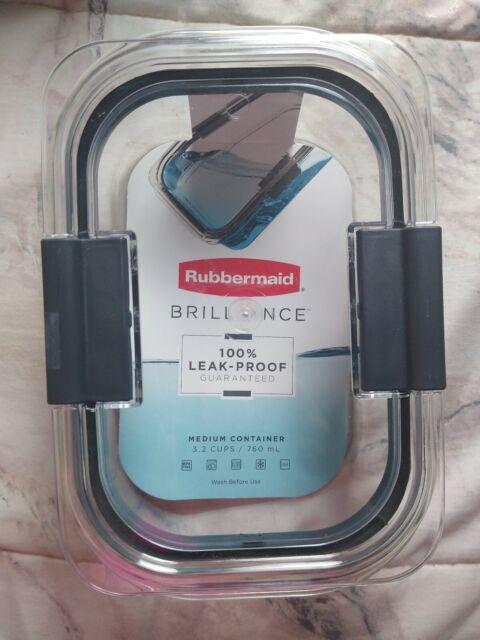 Rubbermaid Brilliance 100% Leak-proof Medium Container 3.2 cups | eBay