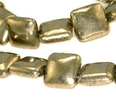"""8MM PALAZZO IRON PYRITE GEMSTONE FACETED LOVE HEART 8MM LOOSE BEADS 7.5/"""""""