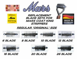 Replacement Blade Sets For Mars Coat King Stripper Rake