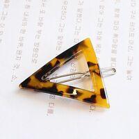 Epingle À Cheveux Doré Géométrique Triangle Ecaille Tortue Motif Simple Fj1