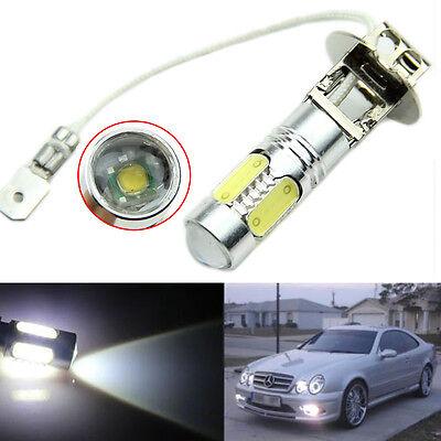 H3 Lens 11W Xenon White Headlight Fog Light Car LED Bulb Lamp 12V