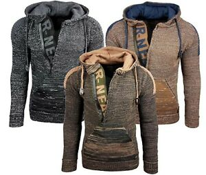 RUSTY-NEAL-Hoody-Kapuzen-Strick-Pullover-Must-Have-cool