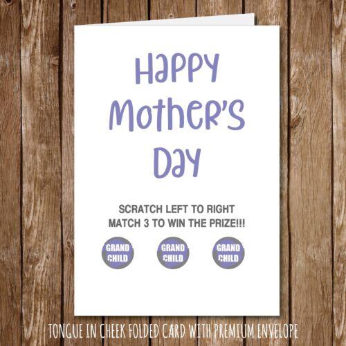 Drôle de Mère/'S Jour Carte humour-Scratch Carte grands-parents Fun Nan momie 143