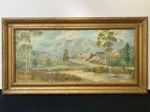 🔥 Antique California Plein Air Impressionist Landscape Oil Painting - Rice