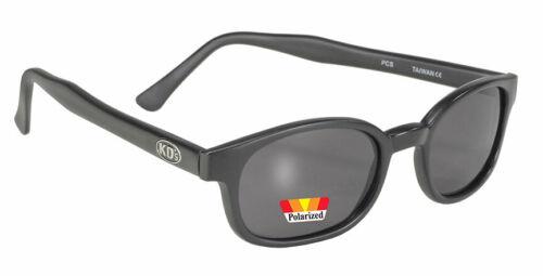 KD/'s 1 Pair Matte Black Polarized Gray Lens Old School Biker Sunglasses 20019
