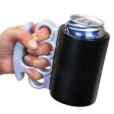 Beer Soda Drink Cooler Brass Knuckle Holder - Funny Gag Prank Joke