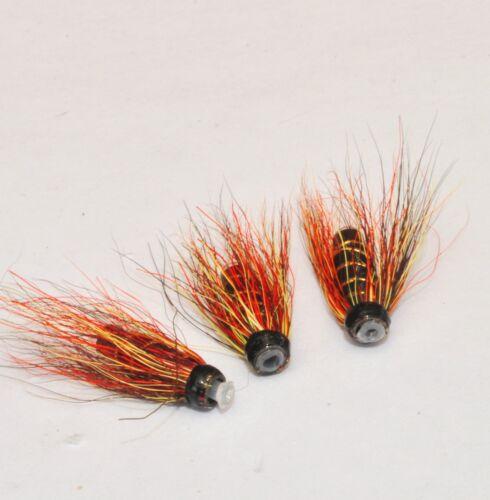 Willie Gunn x 3 Salmon Flies-tungstène tubes en laiton /& conhead