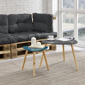 Encasa Couchtisch 2er Set Beistelltisch Beistell Tisch Wohnzimmer