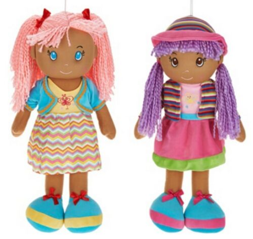 """NWT 2 PC SET 19/"""" Playmaker Toys Lollypop Doll Soft Bodied Rag Plush"""