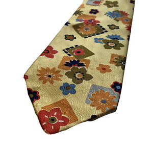 Picasso-Collection-Mens-Neck-Tie-Floral-100-Silk-Made-In-Italy