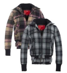 Détails sur pour femmes laine veste à carreaux Manteau dames taille 8 10 12 14 Black