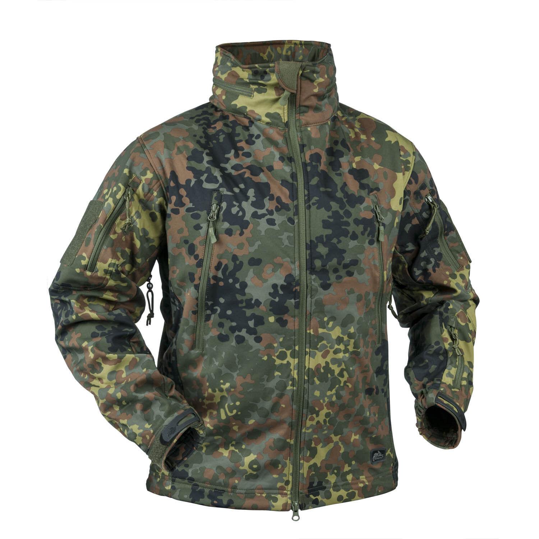 HELIKON tex Gunfighter windblocker Softshell Army chaqueta German BW camuflaje talla m