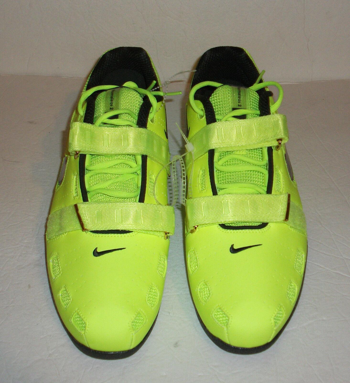 New Nike Romaleos II 2 Mens Power Lifting, Multi Size, Volt, 476927-700
