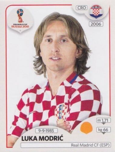 322 Luka Modric CRO Croatia Bild NEU Panini Sticker Fußball WM 2018 Russia Nr