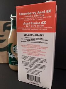 Starbucks Strawberry Acai 4X Base ~ NEW FORMULA USED IN STORES ~ Best By 02/22