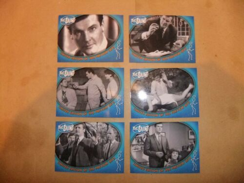 ROGER MOORE THE SAINT 6 card promo set ITC limited 300 cards Inc PERSUADERS BOND