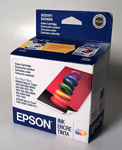 EPSON-S020191-S020089-Tri-Color-Ink-Cartridge-New-Factory-Sealed