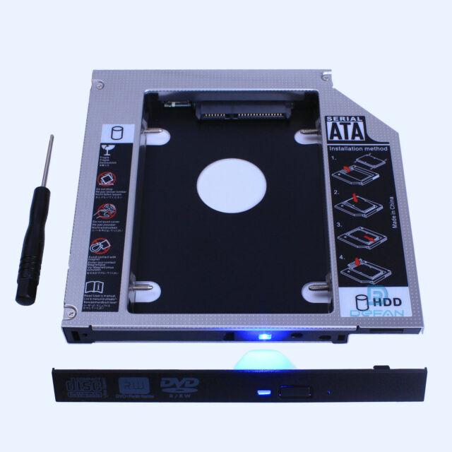 SATA 2nd HDD SSD Hard Drive Disk Caddy Optical CD DVD Bay Adapter For Asus K53SV