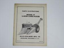 Allis Chalmers Model 17 2 Row Corn Picker Parts Illustrations Tpl 361