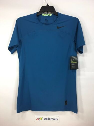 Nike Pro Hypercool Men Short Sleeve Athletic Top NIKE828178 NEW Blue Sz M L XL