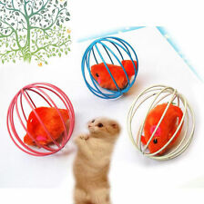 Fun Gift Play Playing Toys False Mouse in Rat Cage Ball For Pet Cat HOT 2016
