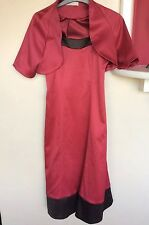 Dress & Jacket By TEATRO Red/brown Size 8 NWOT
