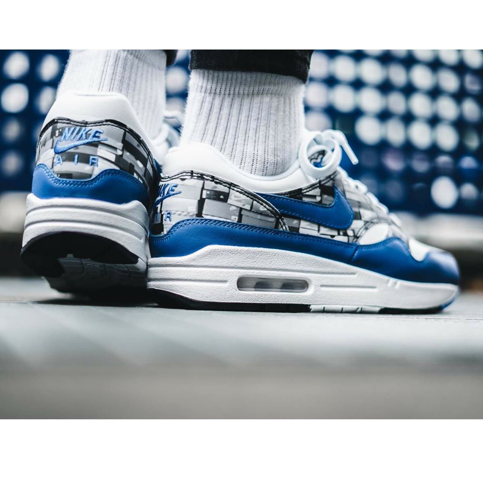 Atmos 1 X Nike Air Max 1 Atmos Print We Love Nike White Blue Royal Mens Shoes AQ0927-100 07a859