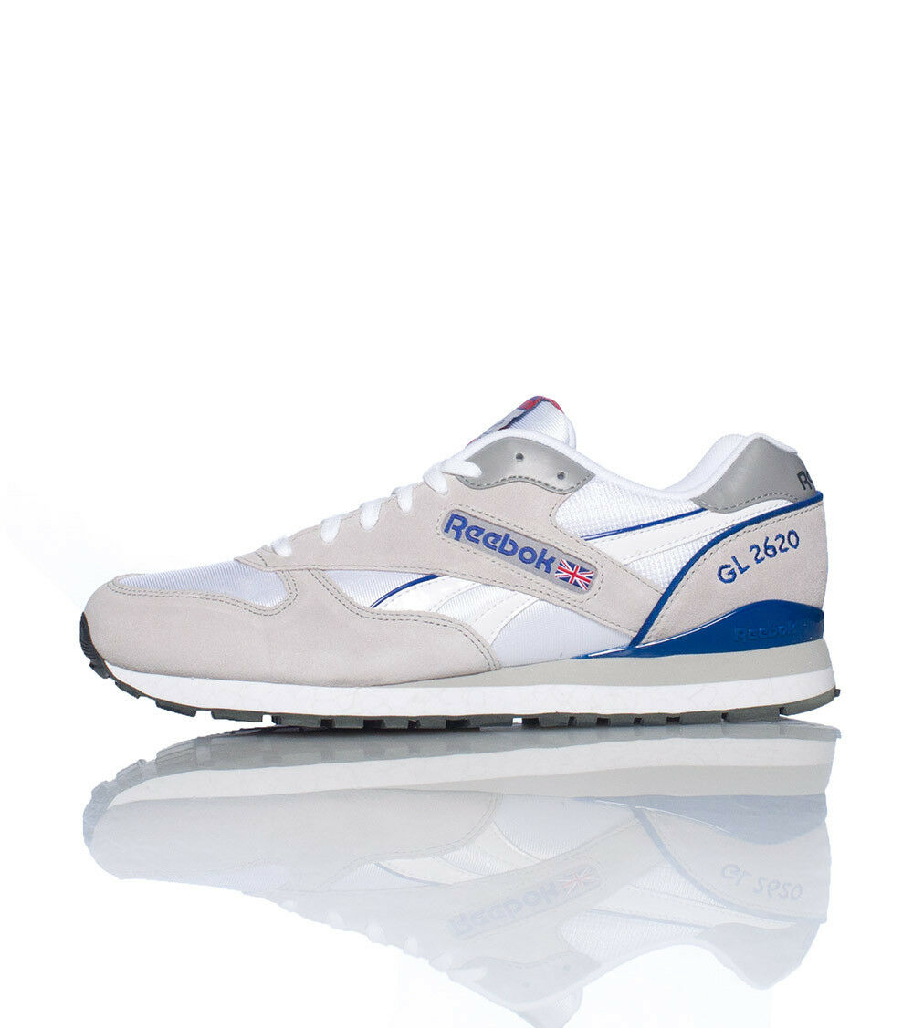af526525186 Reebok Men's GL 2620 NEW AUTHENTIC White Grey bluee V56203 SZ 11.5 shoes  nuttza2694-Athletic Shoes