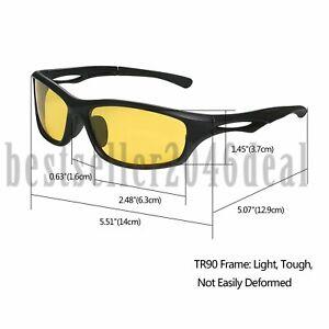 Nachtsicht-Polarisierte-Fahrbrille-Sport-Sonnenbrille-UV400-Sport-Eyewear