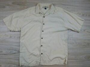 Tommy-Bahama-Mens-Button-Down-Tropical-Hawaiian-Shirt-Size-M-100-Silk-Vacation