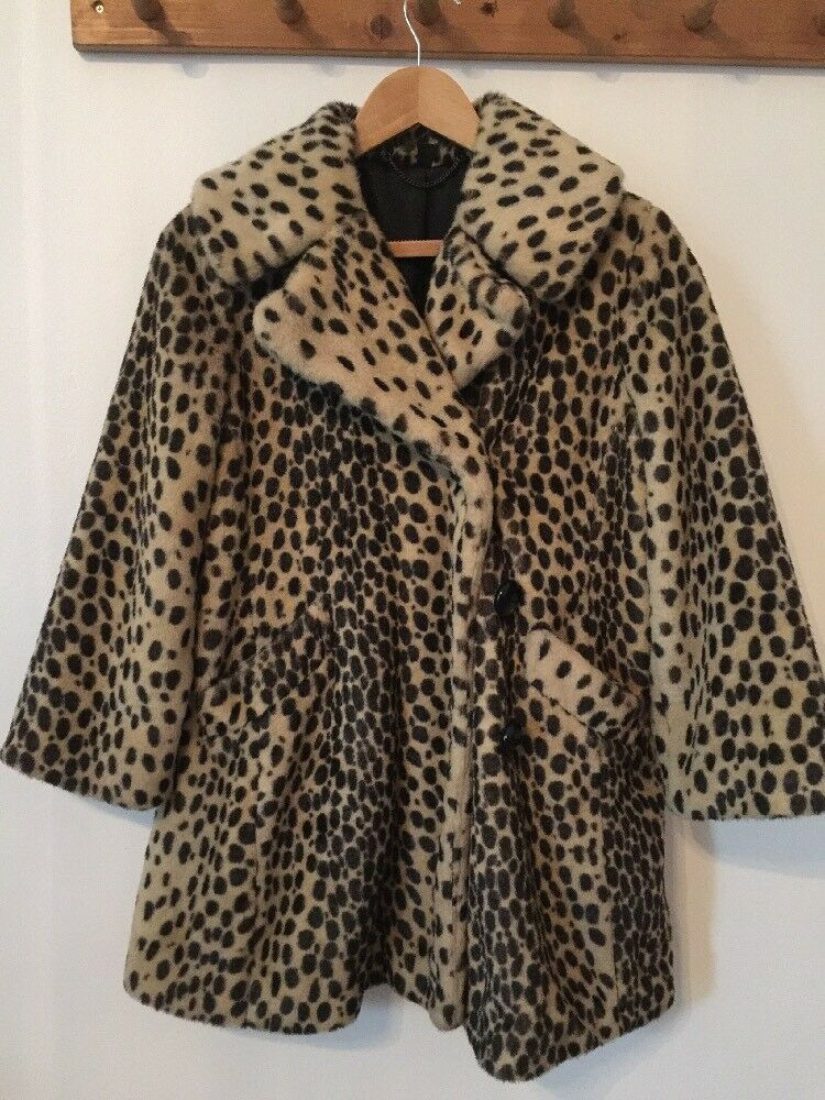 Fab Animal Print Faux Fur Coat From Topshop Size M
