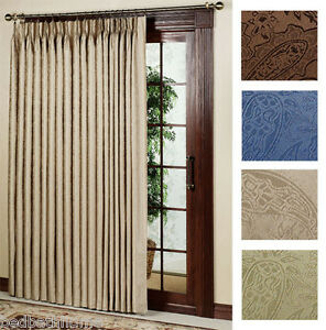 """NEW Gabrielle Pleat Thermal Patio Door Panel Curtain - 96"""" wide by 84"""" long"""