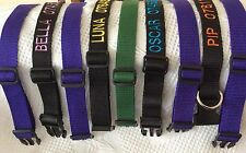 Personalised dog collars with D ring slider & clasps in  a Colour Of Your Choice