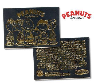 PEANUTS GANG Laser Line BLACK GOLD Card CHARLIE BROWN Snoopy Graded GEM MINT 10