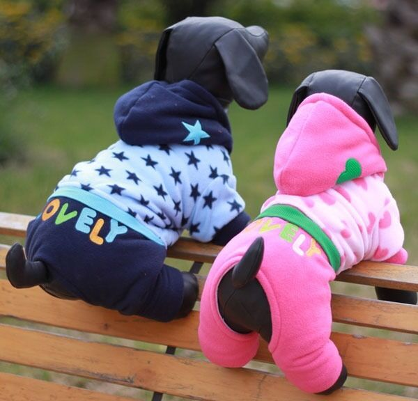 Fleece Hoodie Tracksuit Pajamas Sweater Jumpsuit Small Dog Clothes Dog Costume