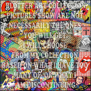 BLOTTER ART COLLECTION -  BULK LOT 80 PERFECT blotters for best price on ebay