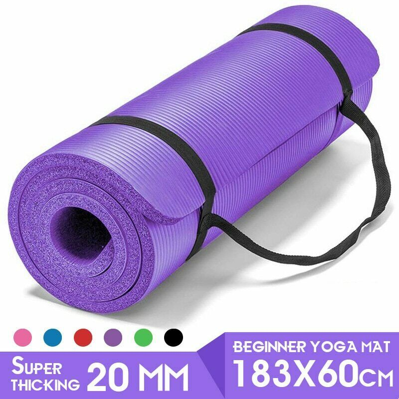 Jade Harmony Professional Yoga Mat 3 16 5mm X 173cm All Colours Raspberry For Sale Online Ebay