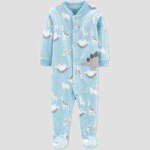 fef368839 New Boys Just One You Carter's Dinosaur Fleece Sleep n Play PJs NWT ...