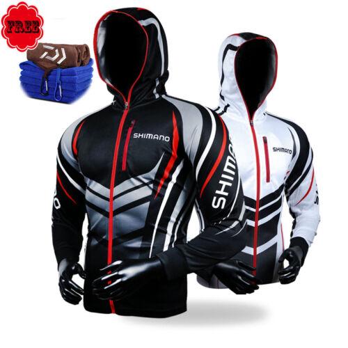 Fishing Clothing Hooded Men Jacket Waterproof Quick-Drying Coat Fishing Shirt