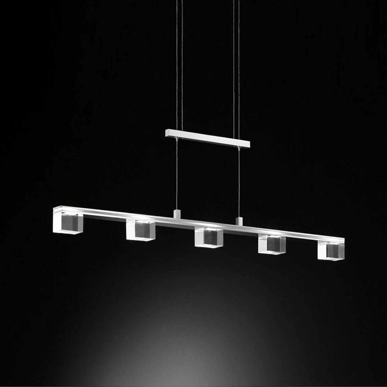 Wofi LED Pendelleuchte Century Century Century 5-flg Chrom Ess Wohn Zimmer Küche Esstisch Lampe | Online Shop  |  644302