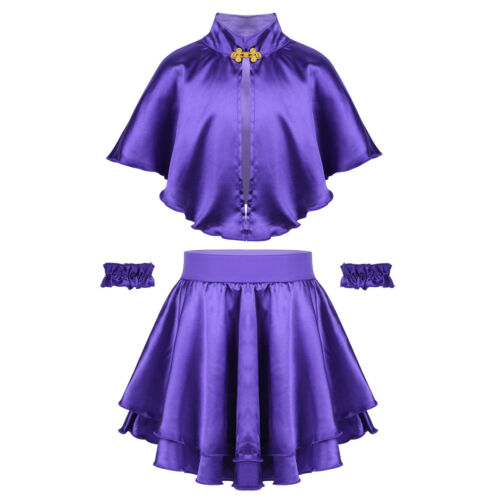Kids Girls Showman Anne Wheeler Costume Cosplay Dresses Cape Skirt Fancy Outfit